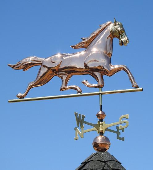 Brass Headed Horse Weathervane