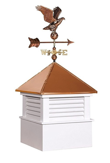"25"" sq Vinyl Douglas Cupola With Eagle Weathervane Set"