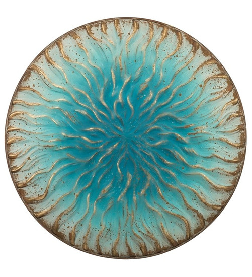 Blue Wave Wall Decor 36""