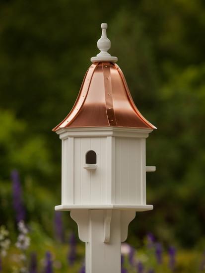 "12""W x 28""H - Hexagon Dovecote Birdhouse with Perches"