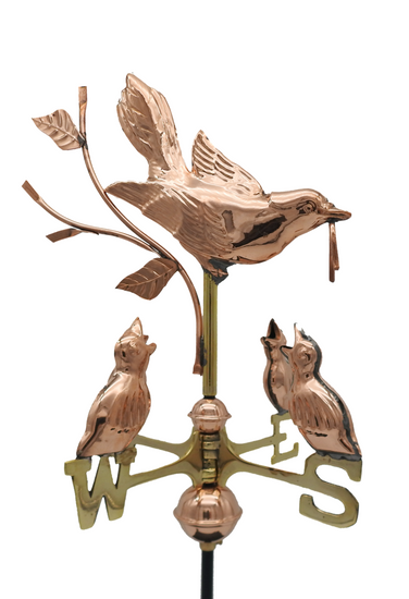 Small Mother Bird And Chicks Weathervane