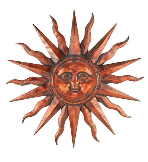 COPPER SUN WALL DECOR 40""