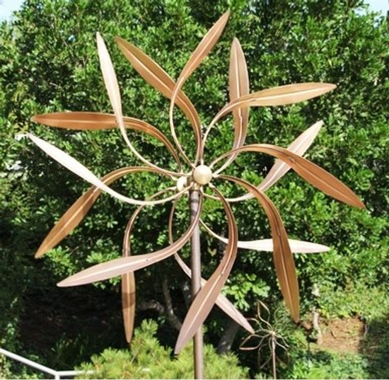 Large Kinetic Copper Willow Wind Spinner