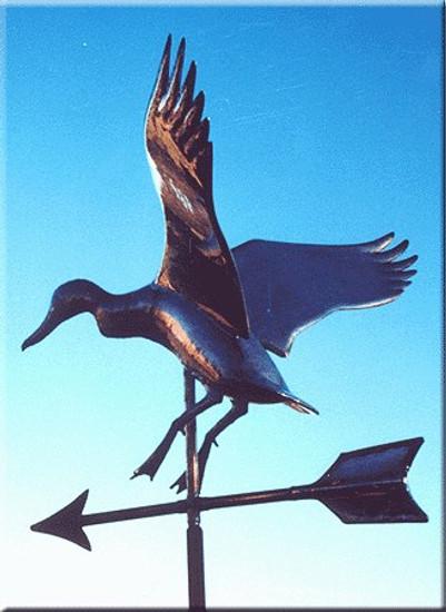 Landing Duck Weathervane