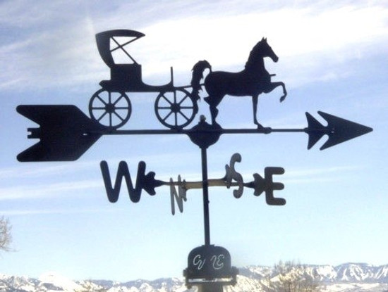 Horse and Buggy Weathervane