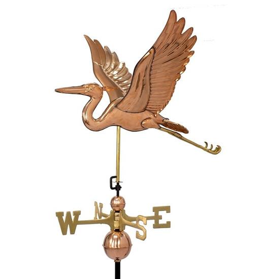 Deluxe Blue Heron Weathervane