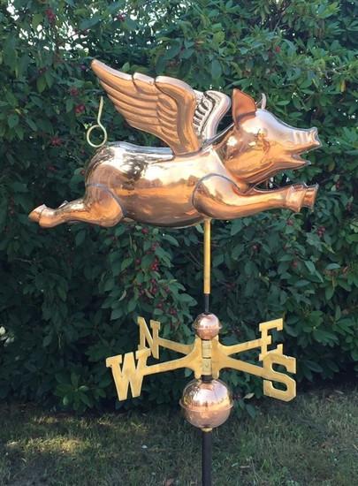 3D Flying Pig Weathervane