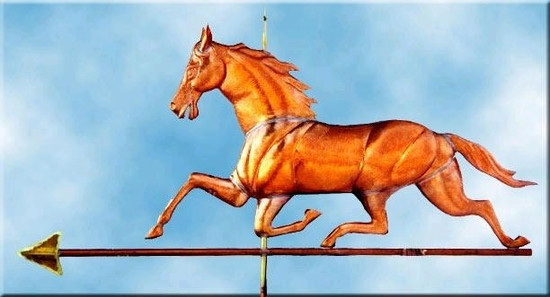 Large Running Horse Weathervane