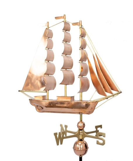 Large Clipper Ship Weathervane