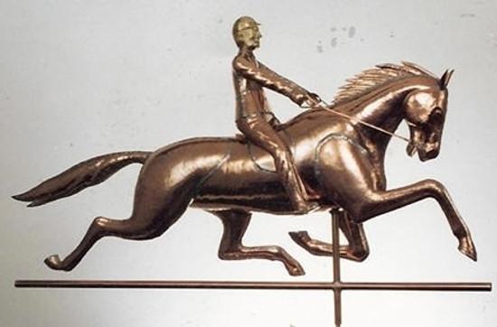Horse with Rider Weathervane