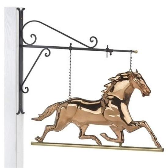 Horse Copper Weathervane Sign with Bracket