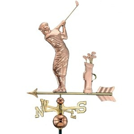 Golfer with Bag Weathervane 1