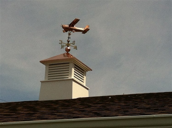High Wing Plane Weathervane