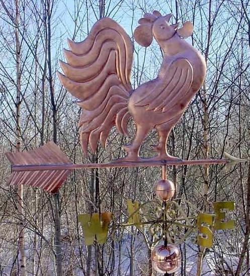 Jumbo Crowing Rooster Weathervane
