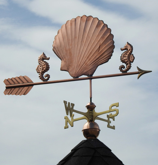 Seashell and Seahorse Weathervane