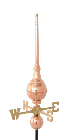Hastings Finial w/ Brass Directionals