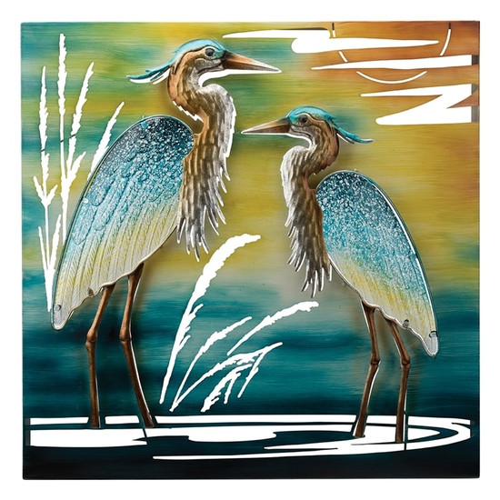 DOUBLE HERON WALL DECOR