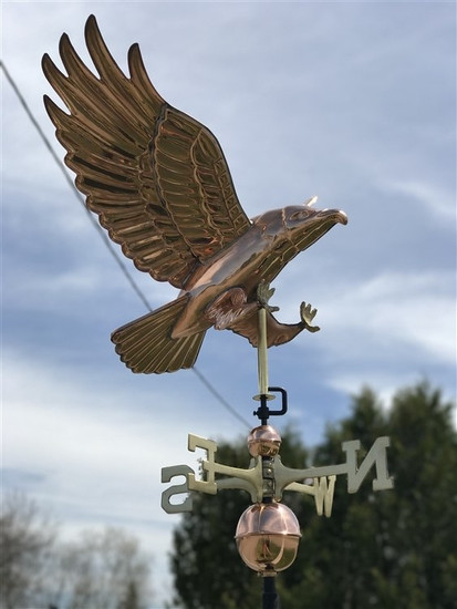 Diving Hawk Weathervane