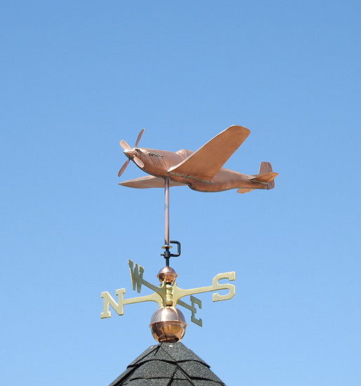 P51 Mustang Fighter Plane Weathervane