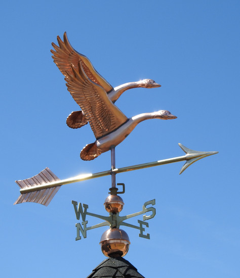 Mating Pair Geese Weathervane