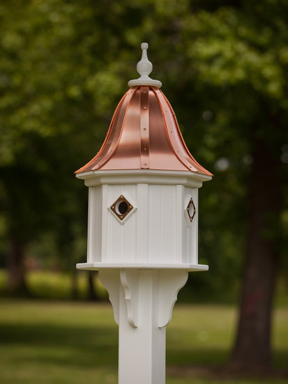 """14""""x 34"""" Octagon Dovecote Birdhouse with Portals and Bell Roof"""