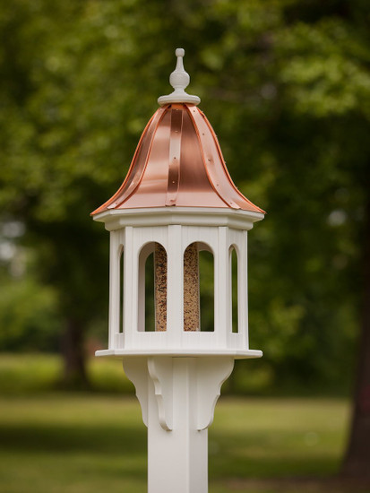 """14""""x36"""" Octagon Bird Feeder with Bell Roof"""