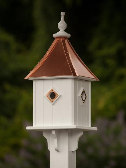 "10""x 28"" Square Blue Bird House"
