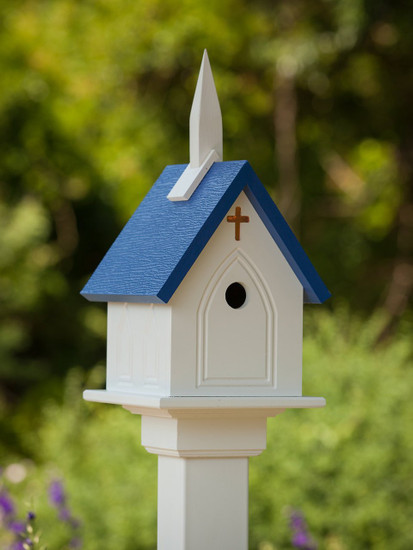 "10""x 22"" Vinyl Church Bird House"
