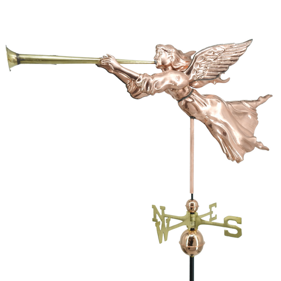 Full Bodied Angel with Horn Weathervane