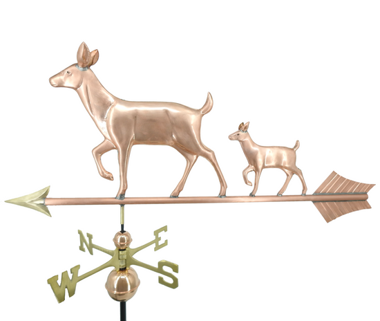 Large Doe and Fawn Weathervane
