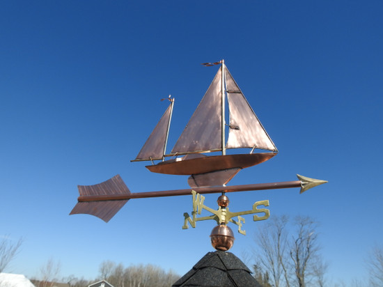 Large Sailboat Weathervane With Arrow