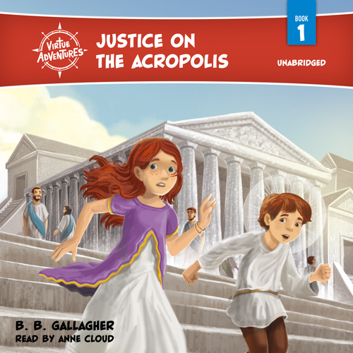 Justice on the Acropolis Audiobook Cover