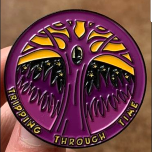 Tripping Through Time pin