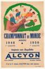 Alcyon Championnat du Monde Original Vintage Bicycle Poster - Racing