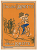 Cycles Lorette Original Vintage Bicycle Poster