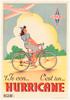 Hurricane Original Vintage Bicycle Poster