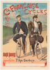 Cie Francaise des Cycles Original Vintage Bicycle Poster