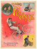 Les Freres France Original Vintage Bicycle Poster by Faria