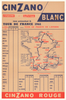 1961 Cinzano Tour De France Original Vintage Bicycle Poster