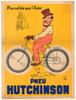 Hutchinson Moto Original Vintage Bicycle Poster by Mich