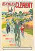 Les Cycles Clement Original Vintage Bicycle Poster