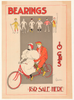 Bearings Tandem Original Vintage Bicycle Poster by Charles A. Cox