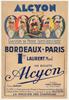 Alcyon 1937 Bordeaux-Paris Original Vintage Bicycle Poster - Racing