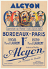 Alcyon 1939 Bordeaux-Paris Original Vintage Bicycle Poster - Racing