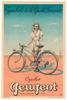 Cycles Peugeot Original Vintage Bicycle Poster