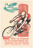 1960 Peace Race Vintage Bicycle Poster