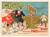 Cycles Barre Original Vintage Bicycle Poster by Courtois