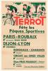 Terrot 1950 Paris-Roubaix Original Vintage Bicycle Poster