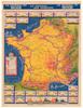 Original Vintage 1950 Tour de France Vintage Le Journal du Soir Map Poster