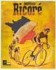 Tour De France Retro Poster for Ricore Coffee by Nestle